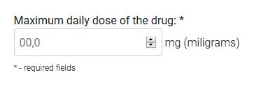 Daily maximum dose field ilustration